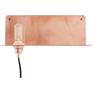 Frama 90° Wall Lamp and Shelf - Copper