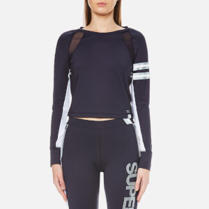 Superdry Women's Super Speed Sport Crop Top - Navy