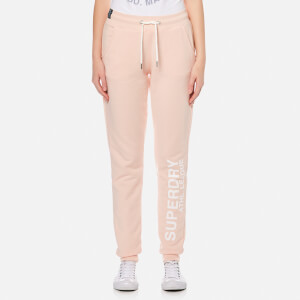 Superdry Women's Athletic League Cuff Joggers - 90's Baby Pink Marl