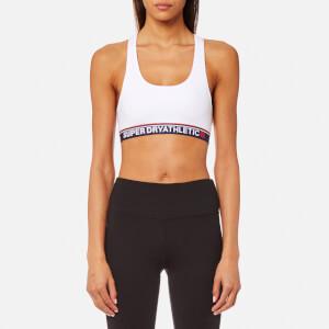 Superdry Women's Tricolour Athletic Bralet - Optic White