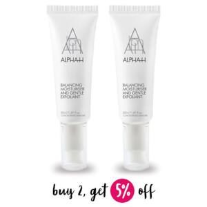Buy 2 Alpha-H Balancing Moisturiser And Gentle Exfoliant 50ml And Save