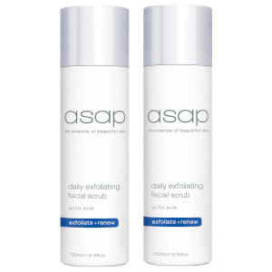 2 x asap Daily Exfoliating Facial Scrub 200ml