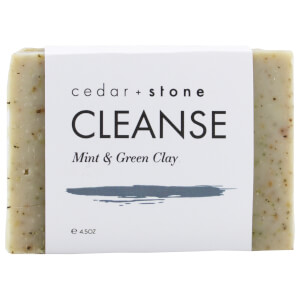 Cedar + Stone Mint + Green Clay Cleanse Bar 140g