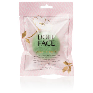 Doll Face Pretty Puff Green Tea Natural Konjac Cleansing And Exfoliating Sponge