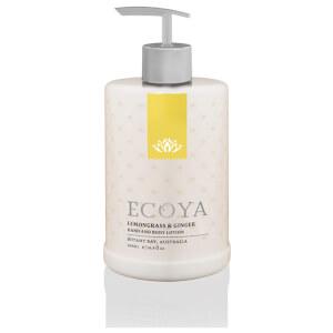 ECOYA Lemongrass & Ginger Hand & Body Lotion 500ml