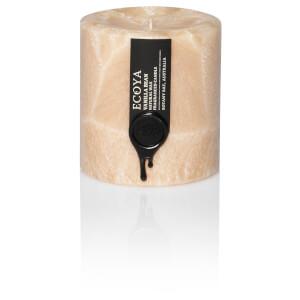 ECOYA Vanilla Bean Coloured Small Pillar Candle