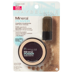 Maybelline Mineral Powder Foundation With Kabuki Brush #20 Classic Ivory 8g