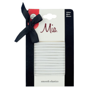 Mia Smooth Elastics White x 14