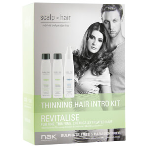 Nak Scalp To Hair Revitalise Thinning Hair Intro Kit 3 x 100ml