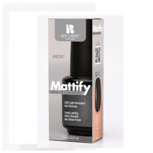 Red Carpet Manicure Mattify Matte Top Coat Nail Gel 9ml