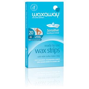 Waxaway By Caron Ready To Use Sensitive Wax Strips Body 20Pk