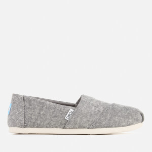 TOMS Women's Seasonal Classic Washed Denim Slip On Pumps - Steel Grey