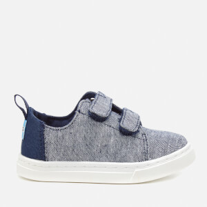 TOMS Toddler's Lenny Chambray Velcro Trainers - Navy Slub