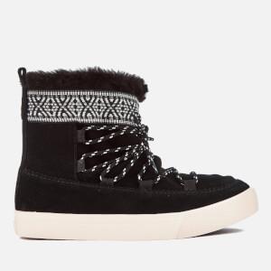 TOMS Women's Alpine Waterproof Suede Sheepskin Boots - Black