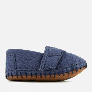 TOMS Babies' Crib Alpargata Layette Canvas Pumps - Navy