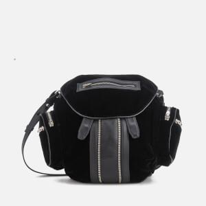 Alexander Wang Women's Mini Marti Silky Velvet Backpack - Black