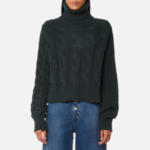 MM6 Maison Margiela Women's 5 Stitch High Neck Jumper - Pine