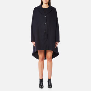 MM6 Maison Margiela Women's Felt Wool Coat - Blue Navy