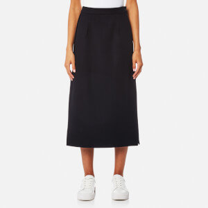 MM6 Maison Margiela Women's Felt Wool Skirt - Blue Navy
