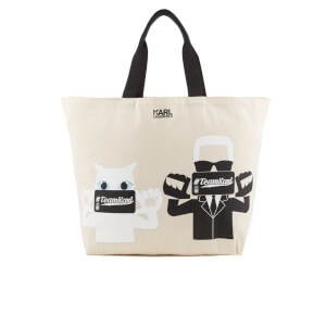Karl Lagerfeld The Photographer Canvas Shopper Bag - Beige