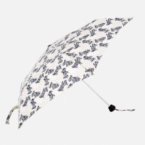 Radley Women's Folk Dog Mini Telescopic Umbrella - Chalk
