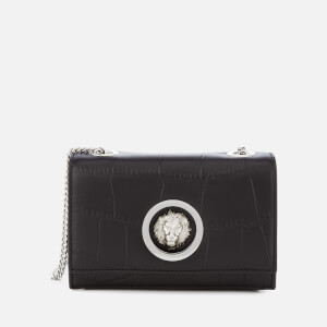 Versus Versace Women's Lion Croc Small Clutch Bag - Black