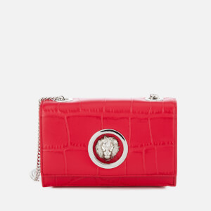 Versus Versace Women's Lion Croc Small Clutch Bag - Red