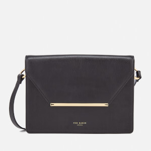 Ted Baker Women's Magsie Bar Detail Foldover Cross Body Bag - Black