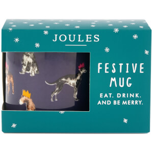 Joules Festive Single Porcelain Mug - Multi Dog