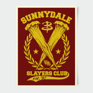 Buffy The Vampire Slayer Sunnydale High Slayers Club 30x40cm Print