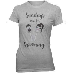 T-Shirt Sundays Are For Spooning -Gris