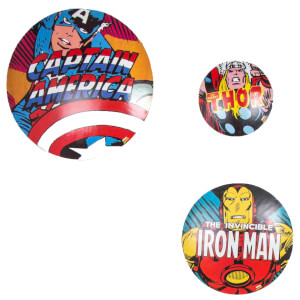 Marvel Set of 3 Metal Wall Badges Wall Art