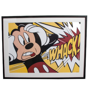 Disney Mickey Mouse Whack Framed Printed Wall Art