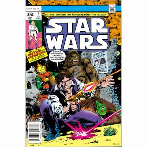 Star Wars Han Solo & Chewbacca Comic Canvas Wall Art