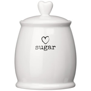 Premier Housewares Charm Sugar Canister - White Dolomite