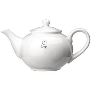 Premier Housewares Charm Teapot - White Dolomite