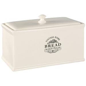 Premier Housewares Vintage Home Bread Crock - Cream Ceramic