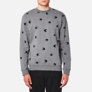 McQ Alexander McQueen Men's Swallow Sweatshirt - Stone Grey Melange
