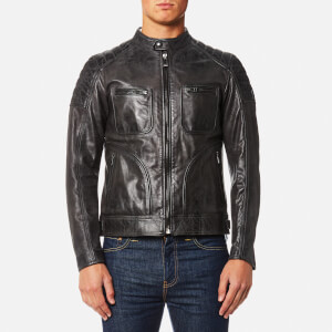Belstaff Men's Weybridge Leather Blouson Jacket - Anthracite
