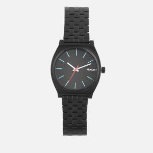 Nixon Men's The Time Teller Watch - Black/Silver/Lum