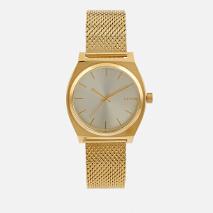 Nixon Women's The Time Teller Milanese Watch - Gold/Cream