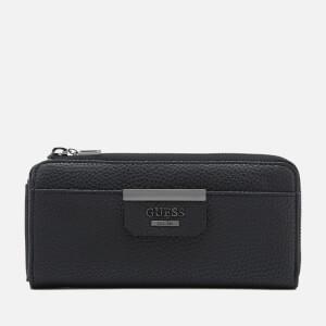 Guess Women's Bobbi Slim Wallet - Pewter Black