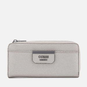 Guess Women's Bobbi Slim Zip Wallet - Pewter