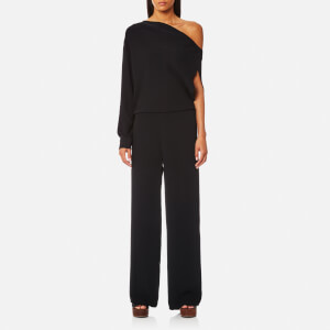 MM6 Maison Margiela Women's Off the Shoulder One Sleeve Jumpsuit - Black
