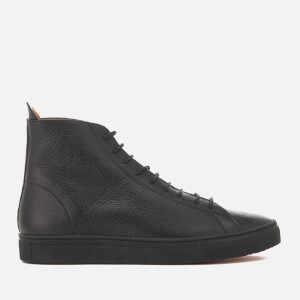 Vivienne Westwood MAN Men's Grain Leather Hi-Top Trainers - Black