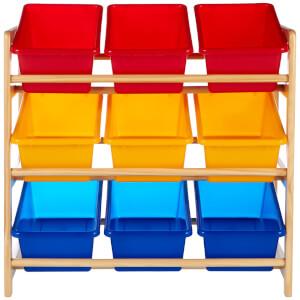 Premier Housewares 3 Tier Storage Unit with 9 Plastic Tubs