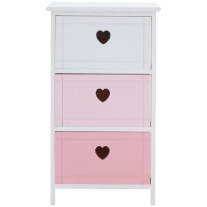 Premier Housewares Olivia 3 Drawer Chest - Pink Mix