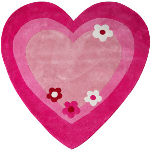 Premier Housewares Kids Love Heart Rug