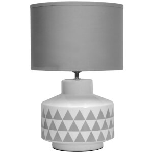 Fifty Five South Wylie Table Lamp - White/Grey