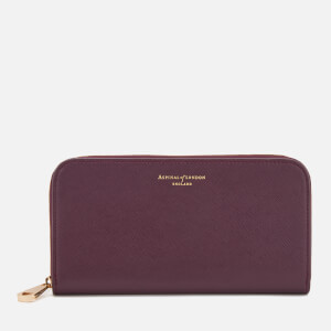 Aspinal of London Women's Continental Clutch Wallet - Grape
